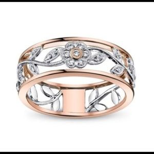 Beautiful Rose and White Gold ring.